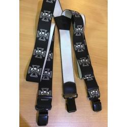Kšandy - železný kříž s lebkami