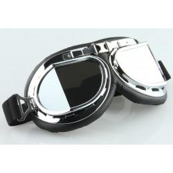 Brýle old school černé skla