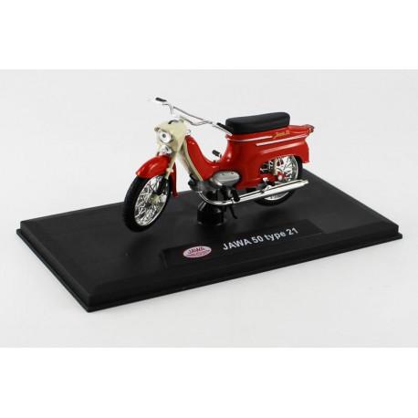 Jawa 50 Pionýr typ 21 (1967) 1:18 - Tmavě červená