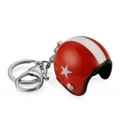 Přívěsek na klíče helma - červená