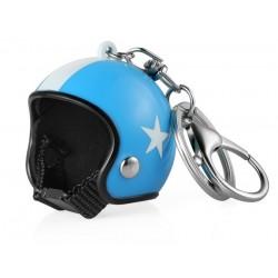 Přívěsek na klíče helma - modrá