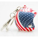Přívěsek na klíče helma - USA Flag