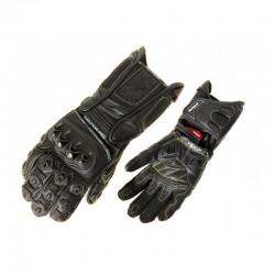 Pánské kožené moto rukavice Spark Dallas, černé