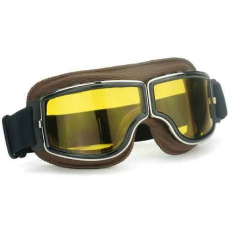 Brýle Old School Sport hnědé/čiré