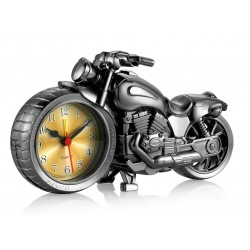 Hodiny ve tvaru motorky Gold