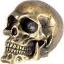 Dekorace na motorku lebka zlatá
