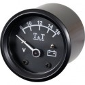 Voltmeter T&T 48mm, 8-16V, Black