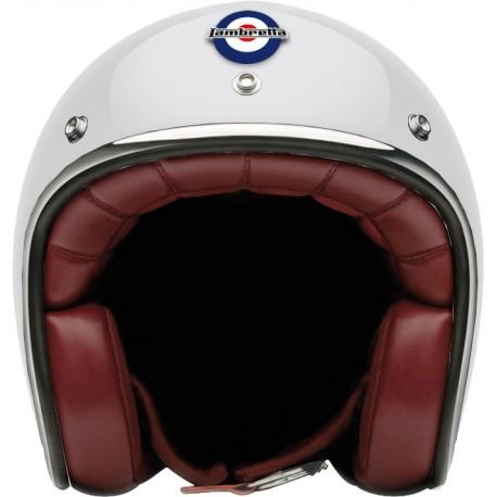Otevřená helma Lambretta hnědá