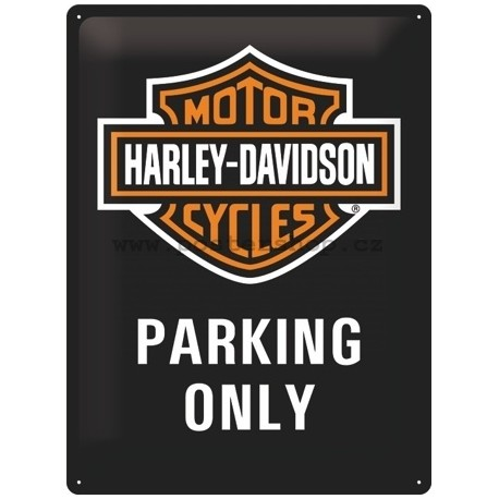 Retro cedule Harley-Davidson Parking Only 30x40cm