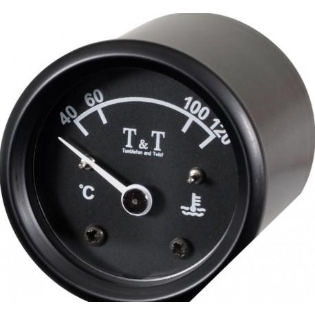 Teploměr oleje T&T 48 mm černý