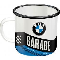 Smaltovaný hrnek BMW Garage