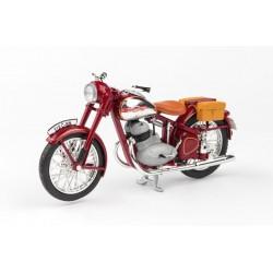 Jawa 350 Pérák (1950) 1:18 - Tmavě Červená - S Brašnama