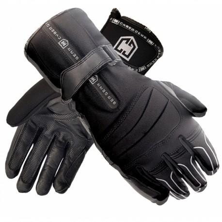 Pánské moto rukavice Cyber Gear Texa Uni, černo-stříbrné