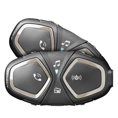 Bluetooth handsfree CellularLine Interphone CONNECT, Twin Pack