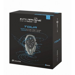 Bluetooth handsfree pro uzavřené a otevřené přilby CellularLine Interphone TOUR Single Pack