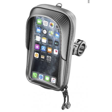 """Univerzální držák na mobilní telefony Interphone Master s úchytem na řídítka, pro telefony max. 6,7"""", černý"""