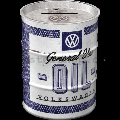 Plechová kasička barel: VW General Use Oil