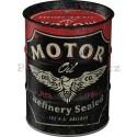 Plechová kasička barel: Motor Oil