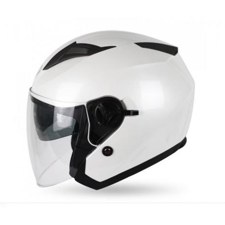 Skútrová helma MAXX OF 868 bílá lesklá