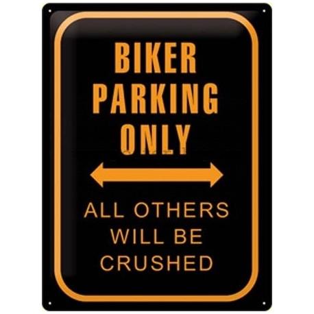 Retro cedule biker parking only 30x40cm