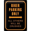 Plechová cedule Biker Parking Only 30x40cm