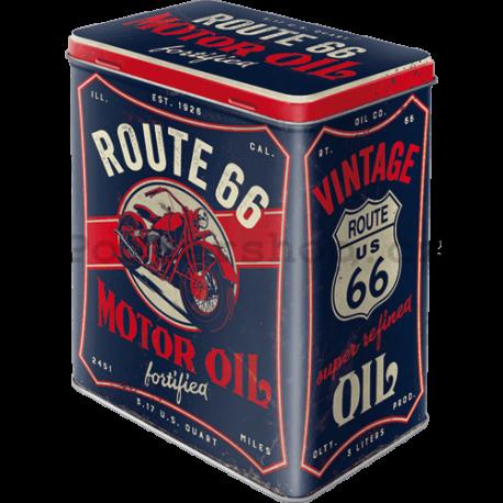 Plechová dóza L - Route 66 Motor Oil