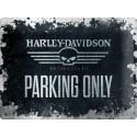 Plechová cedule Harley Davidson Parking Only