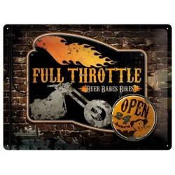 Plechová cedule 30x40 cm - Full Throttle