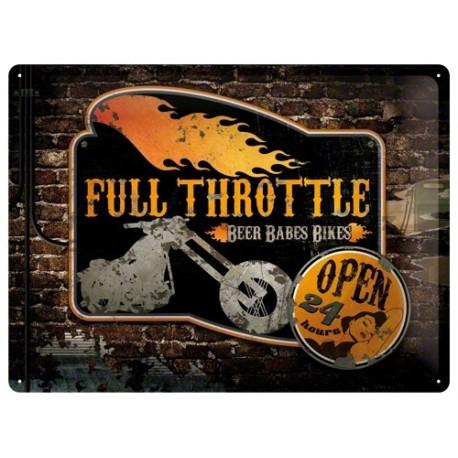 Full Throttle 40x30cm