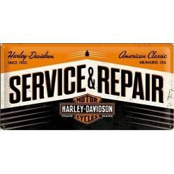 Plechová cedule - Harley Davidson - Service Repair