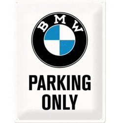 Plechová cedule - BMW Parking Only