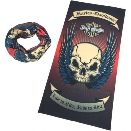Multifunkční šátek na motorku ro motorkáře Harley Davidson 9dd28de139