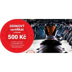 Dárkový certifikát MTT Brno na nákup zboží v hodnotě 500 Kč