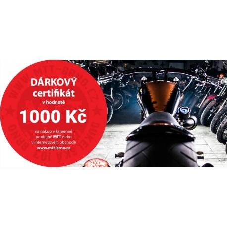 Dárkový certifikát MTT Brno na nákup zboží v hodnotě 1000 Kč