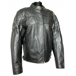 Pánská kožená bunda - sportovní s chrániči