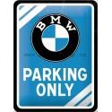 BMW Parking Only (modrá) 15x20 cm