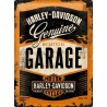 Plechová cedule - Harley Davidson (Garage) 30x40 cm
