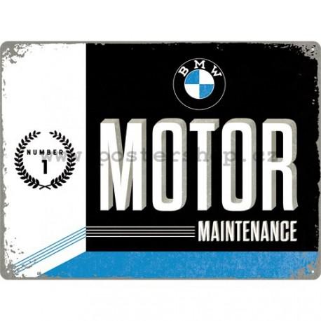 Plechová cedule - BMW Motor Maintenance